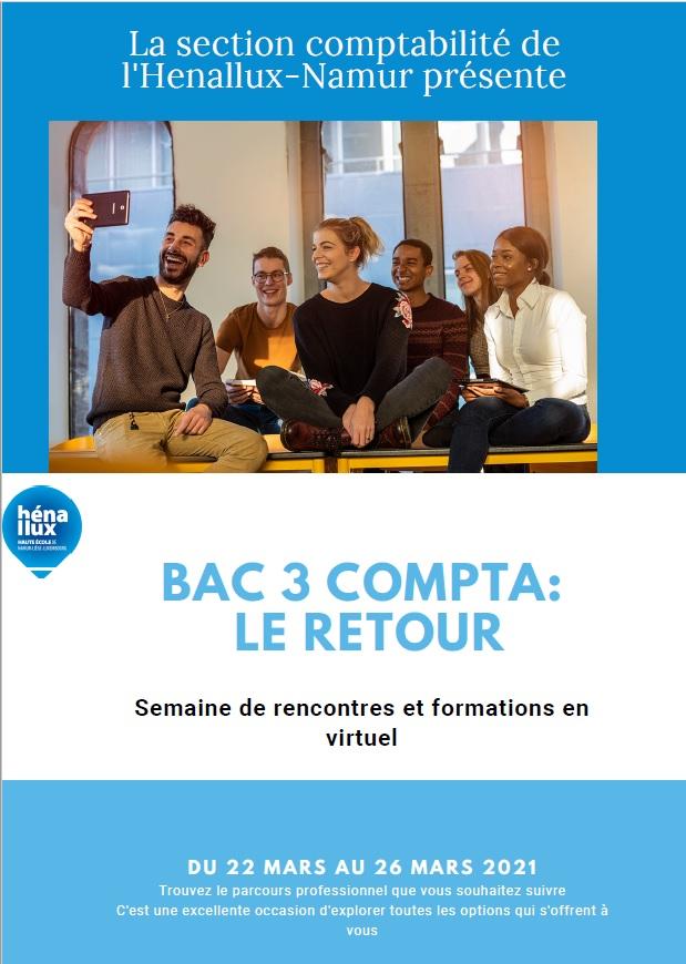 Flyer semaine rencontres virtuelles - comptabilité BAC3